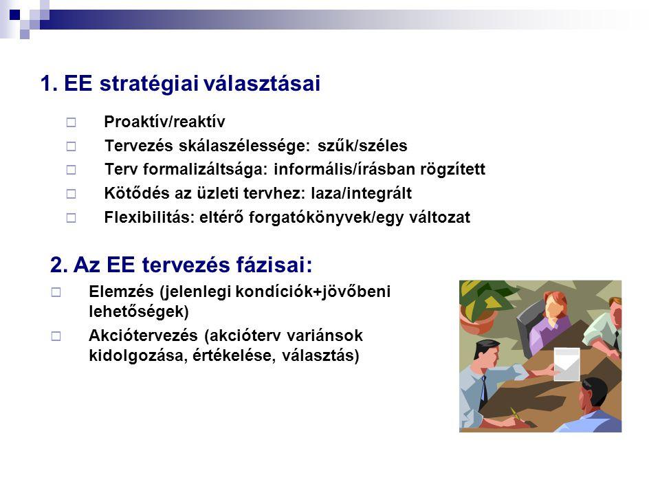 1. EE stratégiai választásai