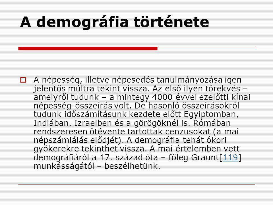 A demográfia története