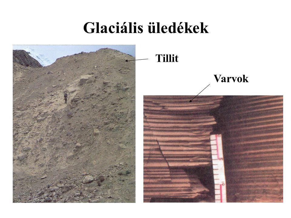 Glaciális üledékek Tillit Varvok