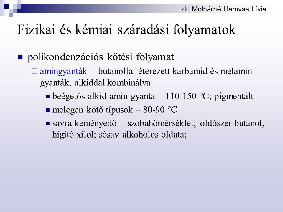 Fizikai és kémiai száradási folyamatok
