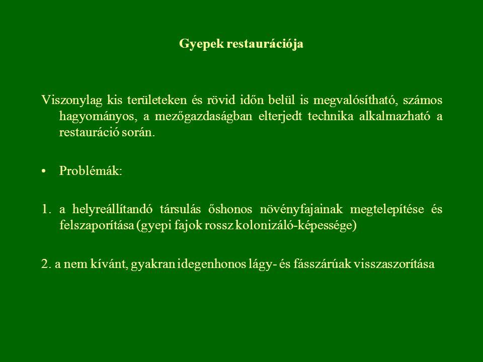Gyepek restaurációja