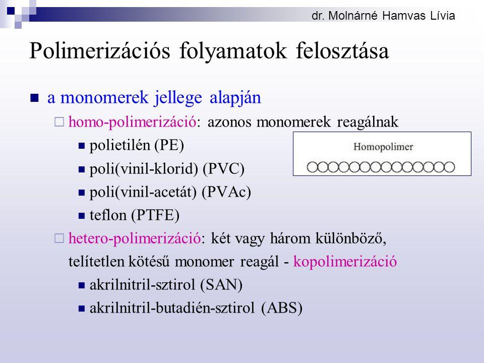 Polimerizációs folyamatok felosztása