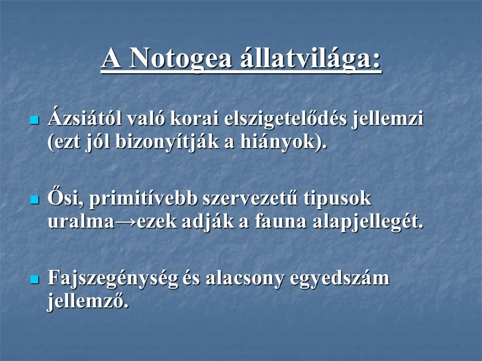 A Notogea állatvilága: