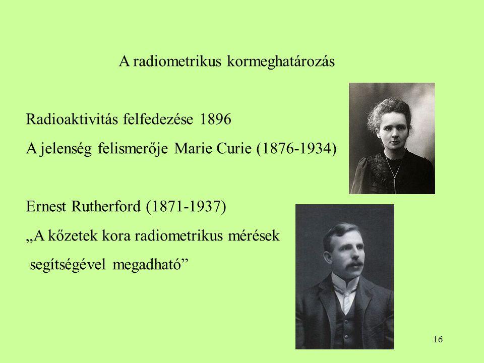 A radiometrikus kormeghatározás