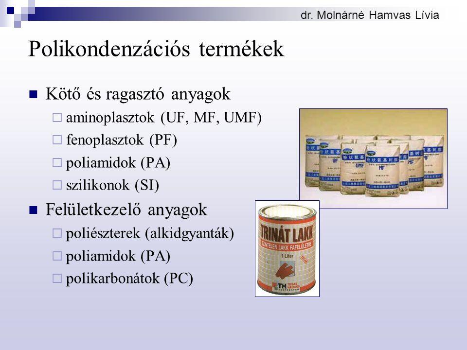 Polikondenzációs termékek