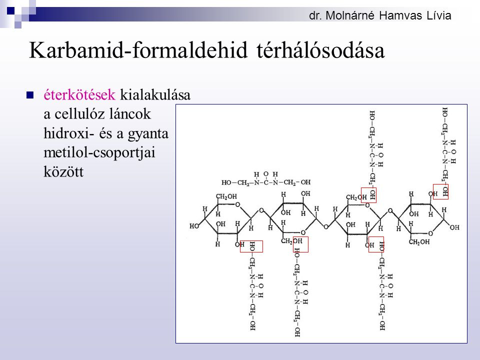 Karbamid-formaldehid térhálósodása