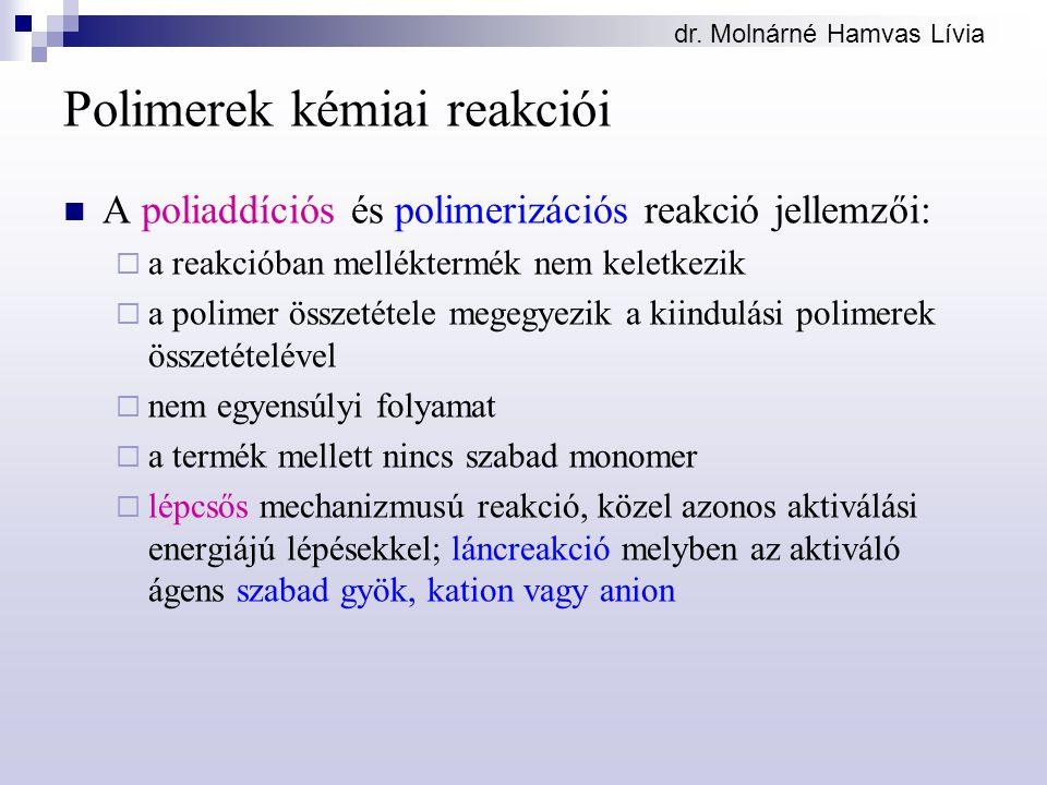 Polimerek kémiai reakciói