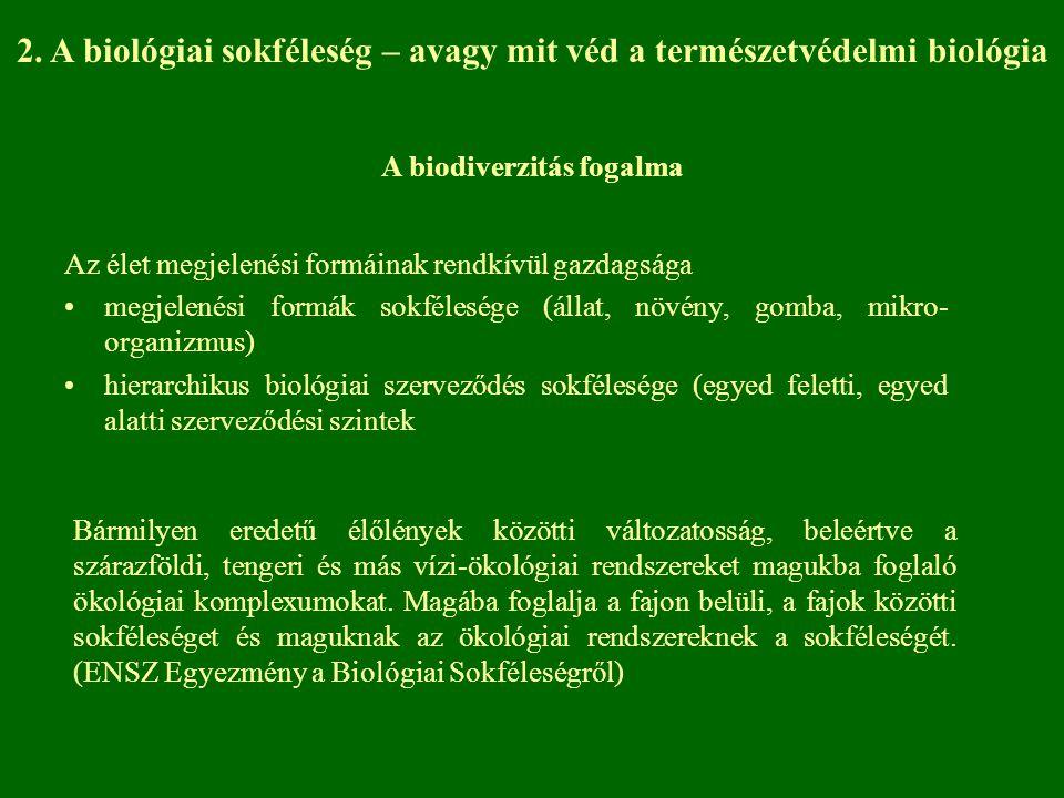 2. A biológiai sokféleség – avagy mit véd a természetvédelmi biológia