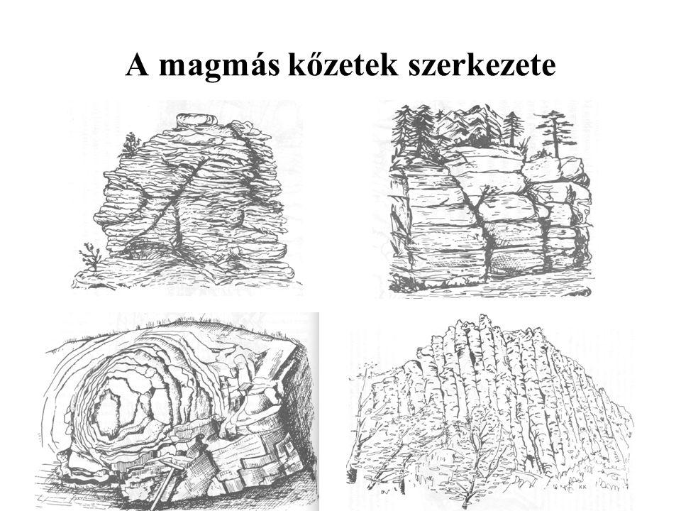A magmás kőzetek szerkezete