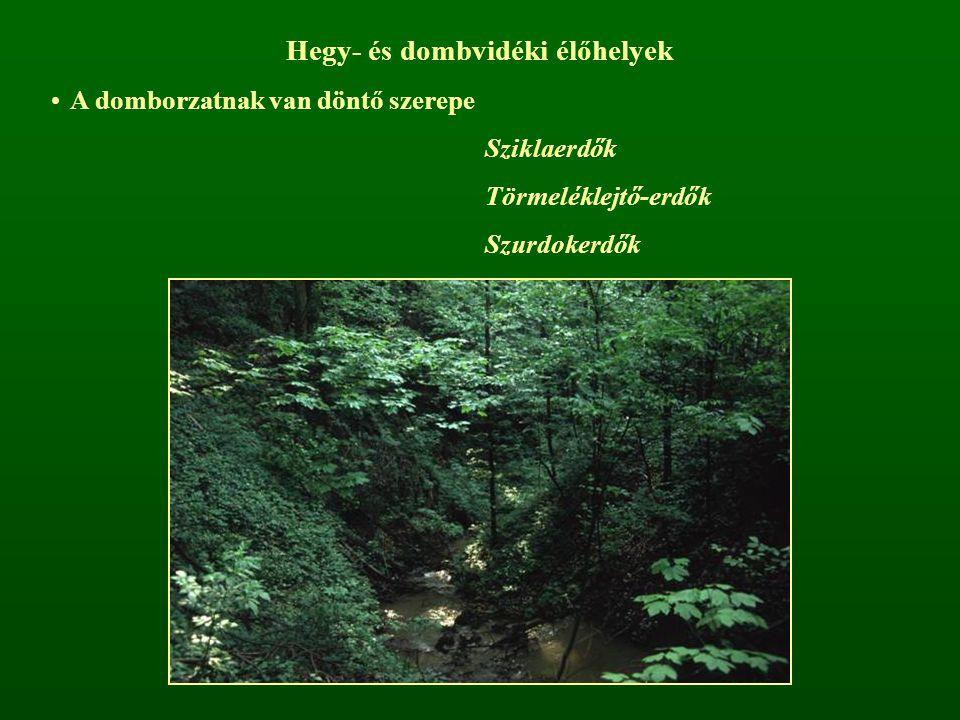 Hegy- és dombvidéki élőhelyek