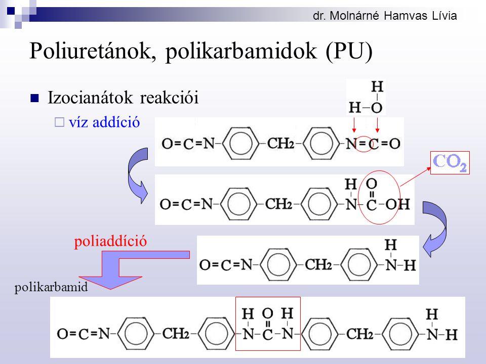 Poliuretánok, polikarbamidok (PU)