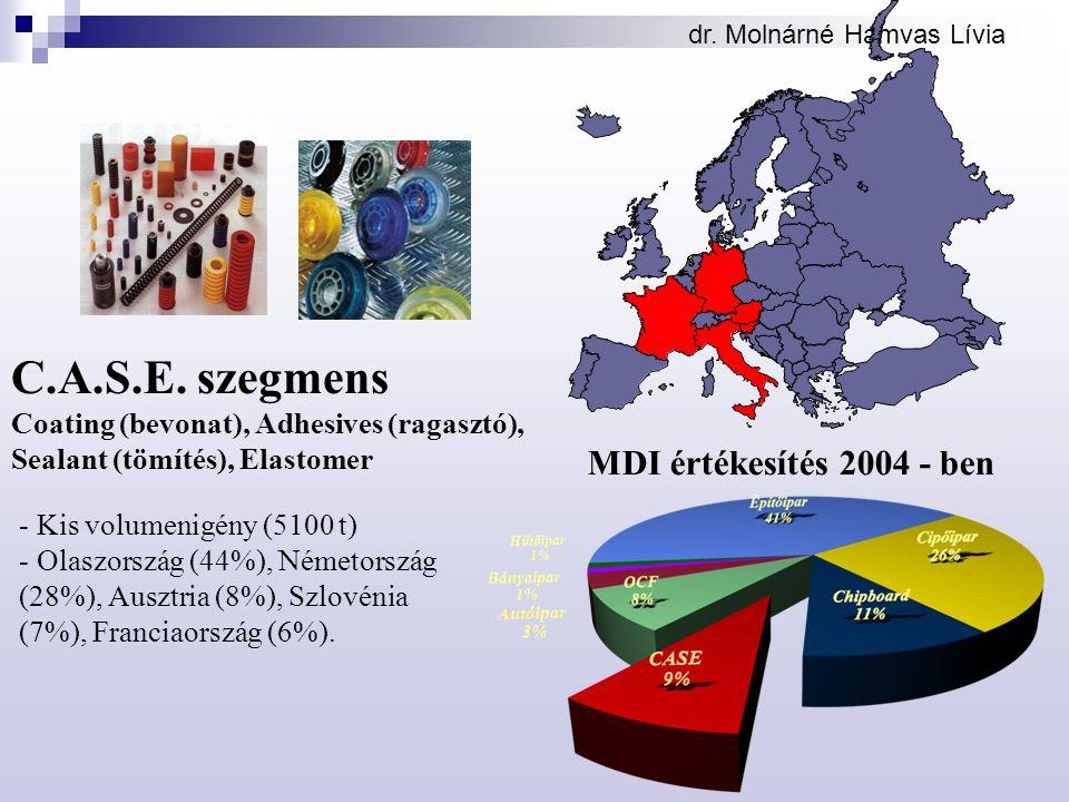 C.A.S.E. szegmens MDI értékesítés 2004 - ben