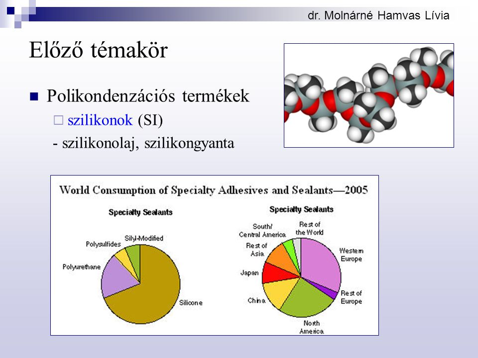 Előző témakör Polikondenzációs termékek szilikonok (SI)