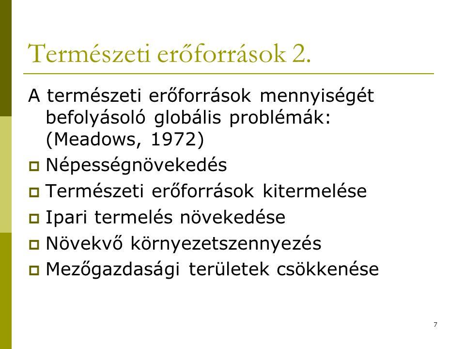 Természeti erőforrások 2.