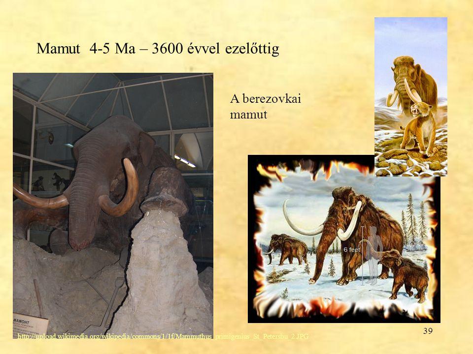 Mamut 4-5 Ma – 3600 évvel ezelőttig