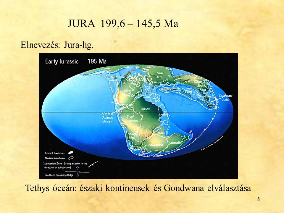 Tethys óceán: északi kontinensek és Gondwana elválasztása