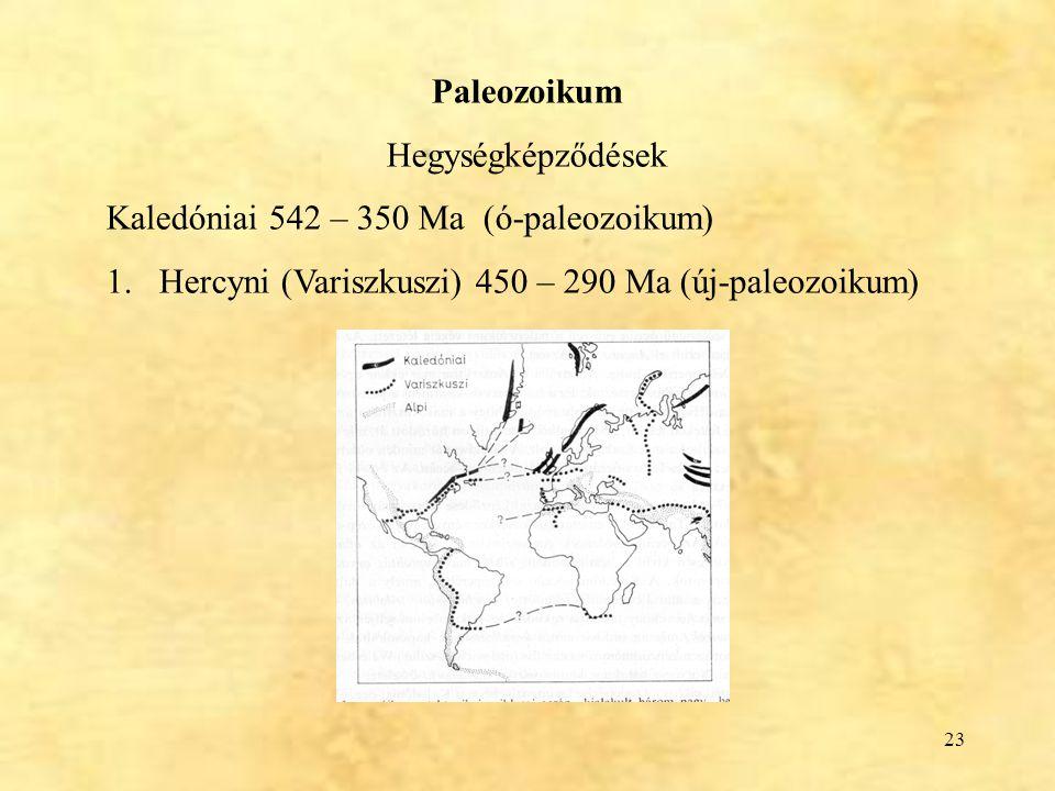 Paleozoikum Hegységképződések.