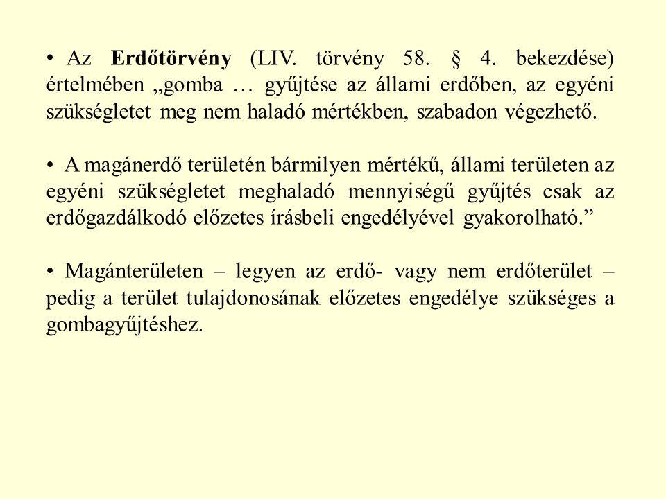 Az Erdőtörvény (LIV. törvény 58. § 4