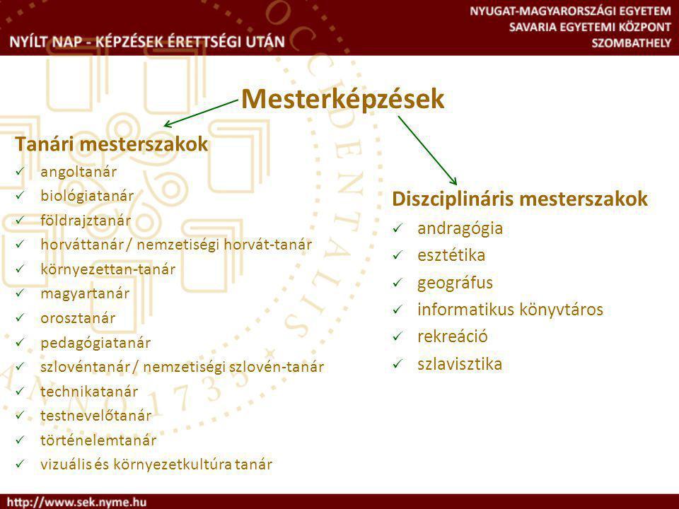 Diszciplináris mesterszakok