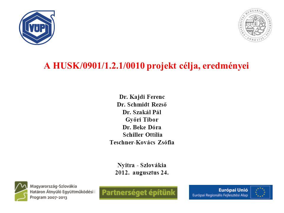A HUSK/0901/1.2.1/0010 projekt célja, eredményei