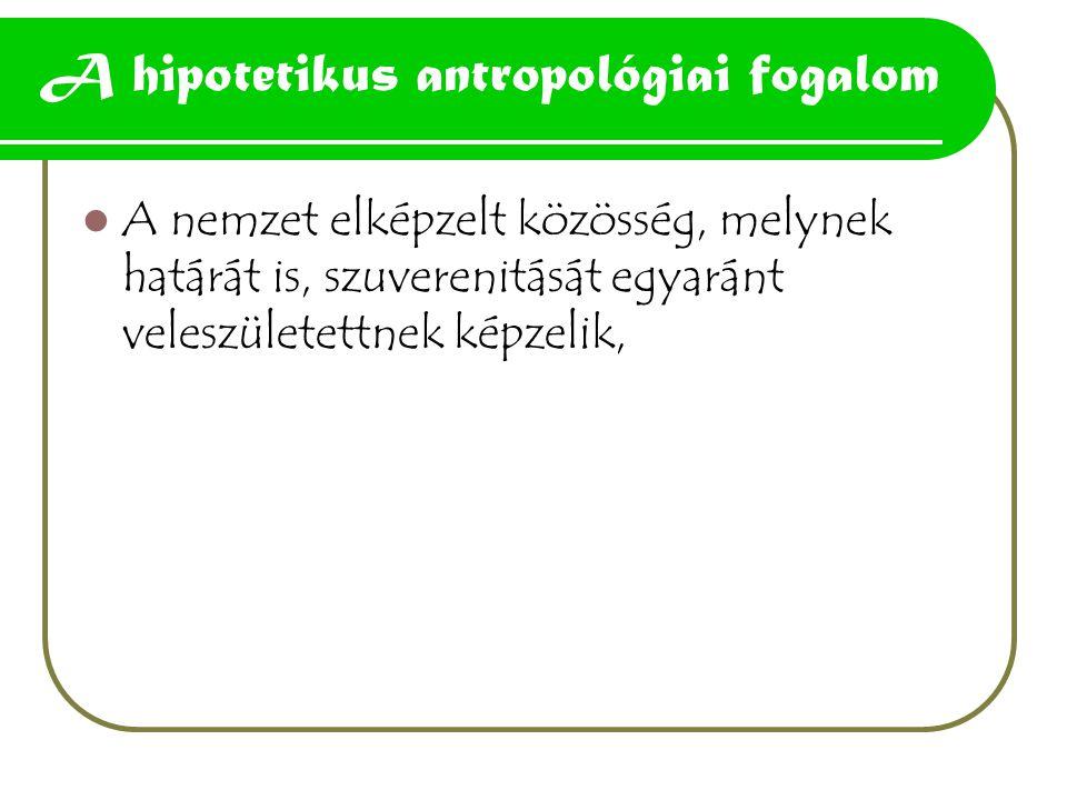 A hipotetikus antropológiai fogalom