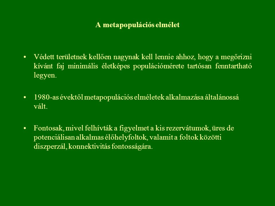 A metapopulációs elmélet