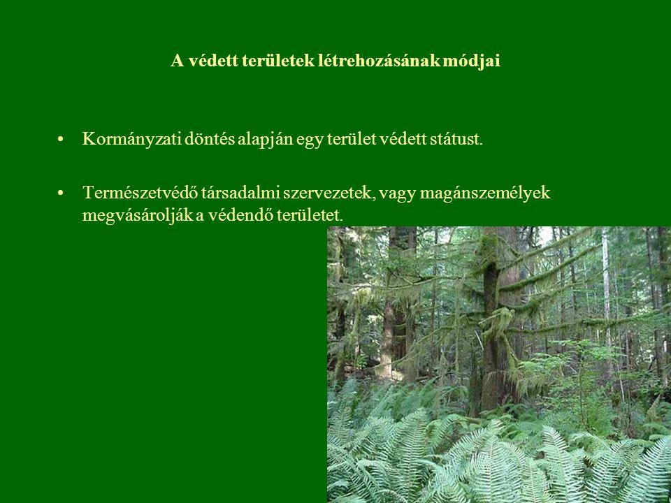 A védett területek létrehozásának módjai