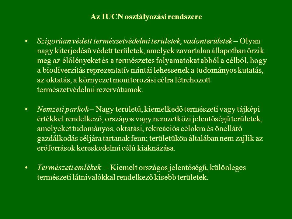 Az IUCN osztályozási rendszere