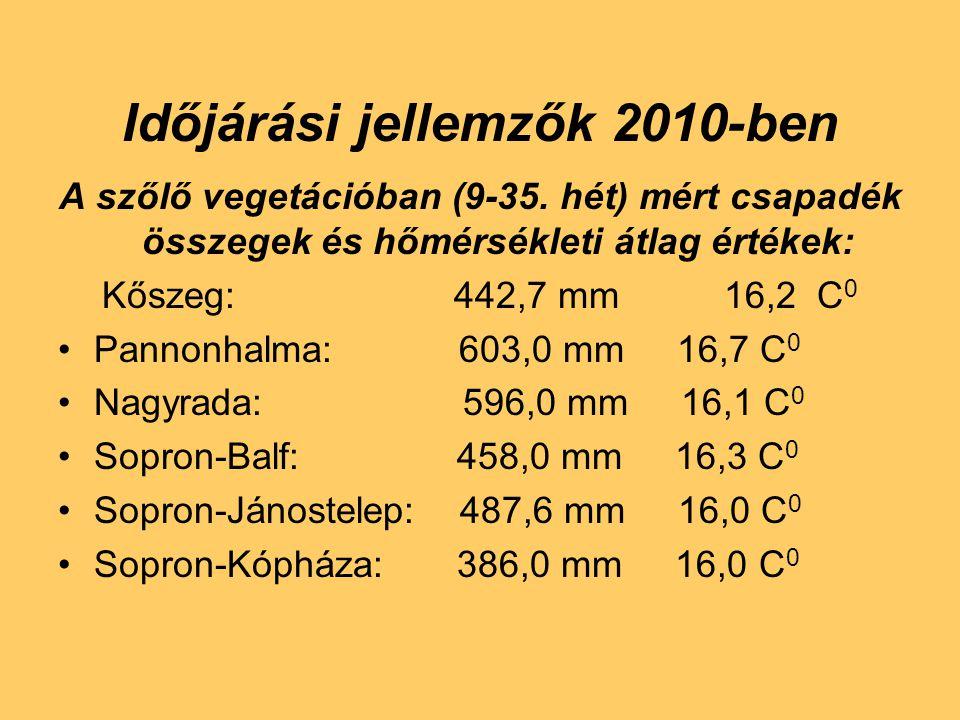 Időjárási jellemzők 2010-ben