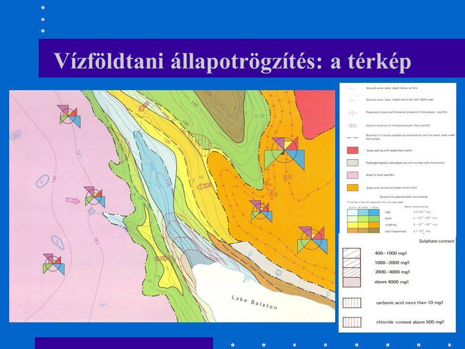 Vízföldtani állapotrögzítés: a térkép