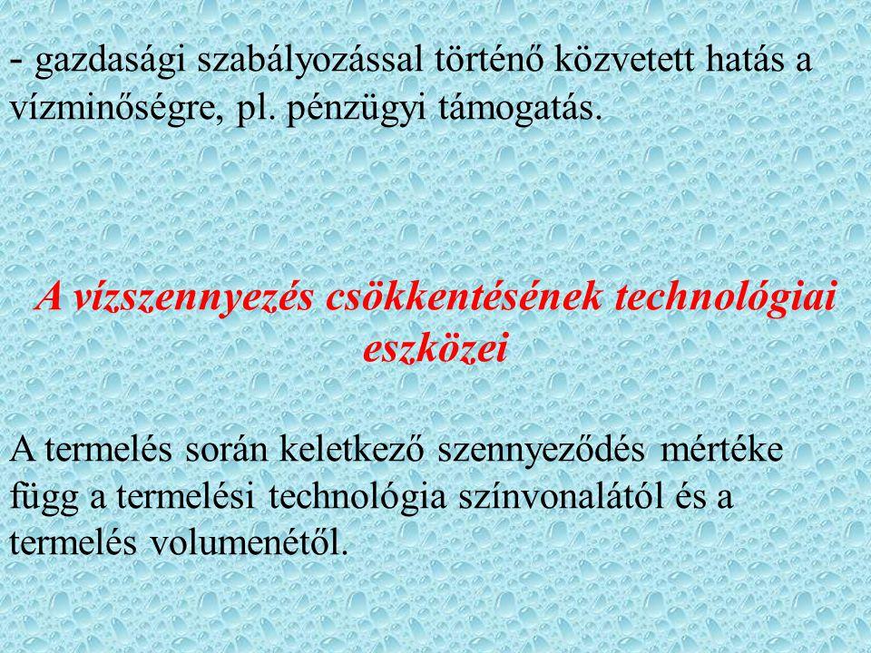 A vízszennyezés csökkentésének technológiai eszközei