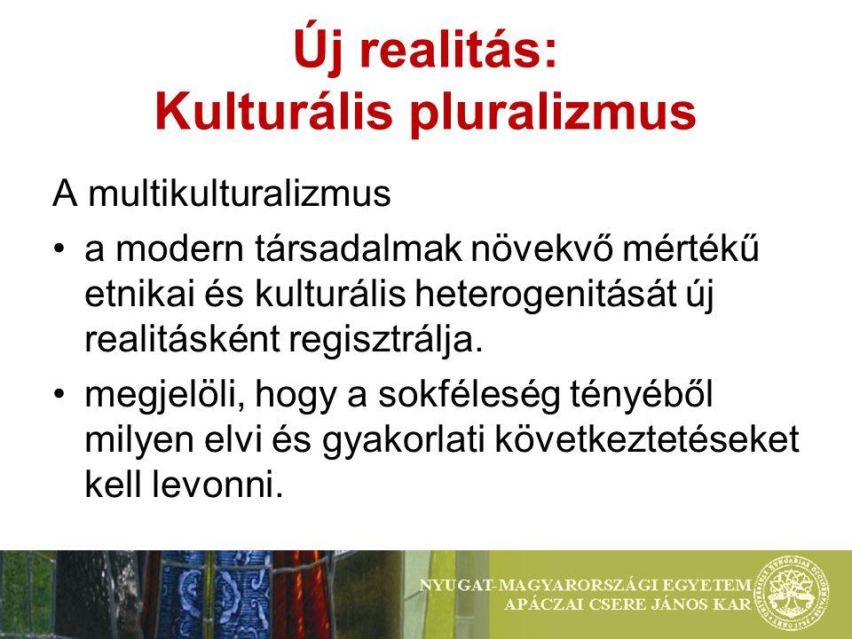 Új realitás: Kulturális pluralizmus