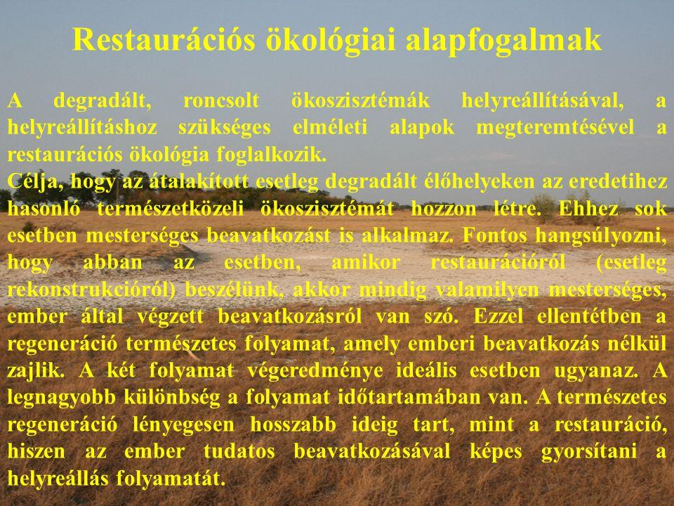 Restaurációs ökológiai alapfogalmak