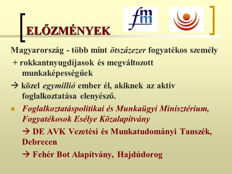 ELŐZMÉNYEK Magyarország - több mint ötszázezer fogyatékos személy