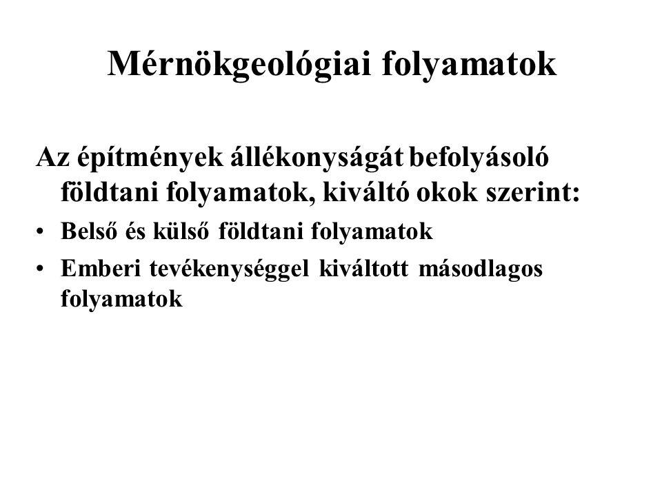 Mérnökgeológiai folyamatok