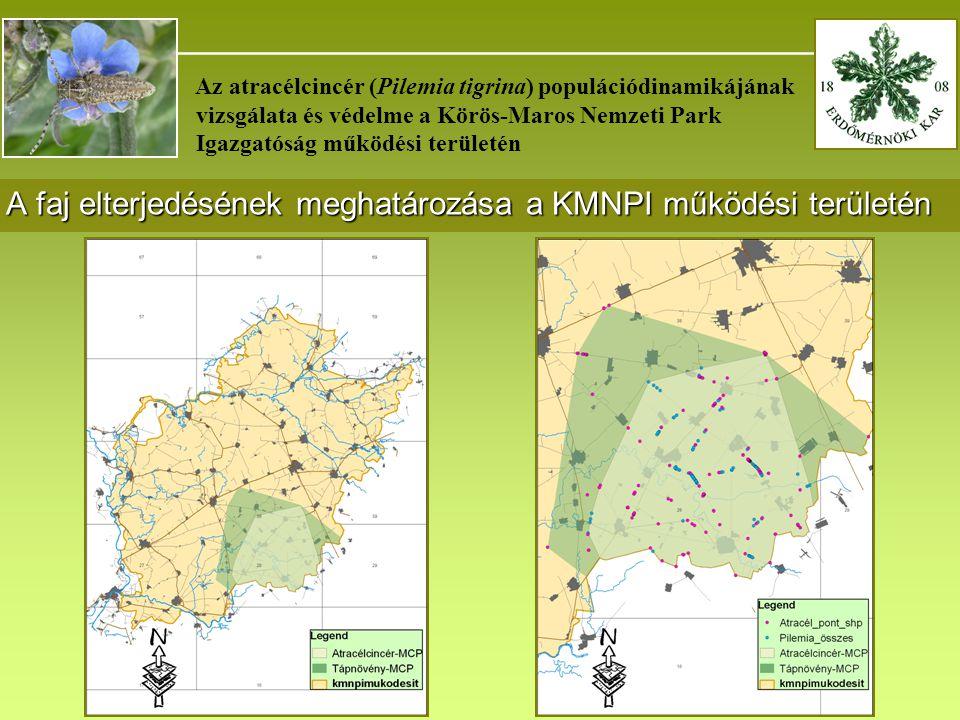 A faj elterjedésének meghatározása a KMNPI működési területén