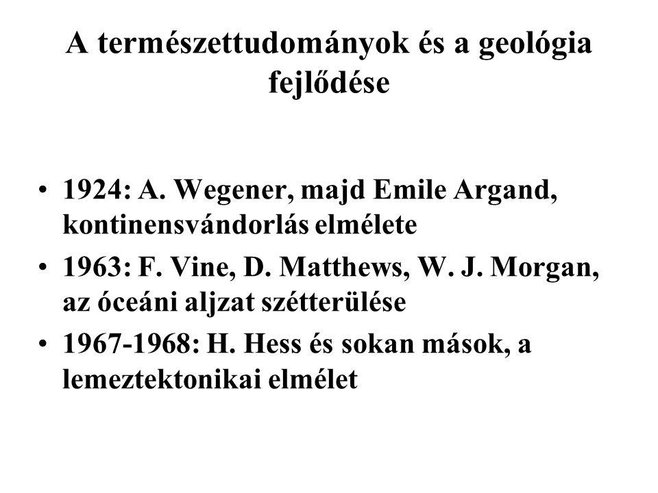 A természettudományok és a geológia fejlődése