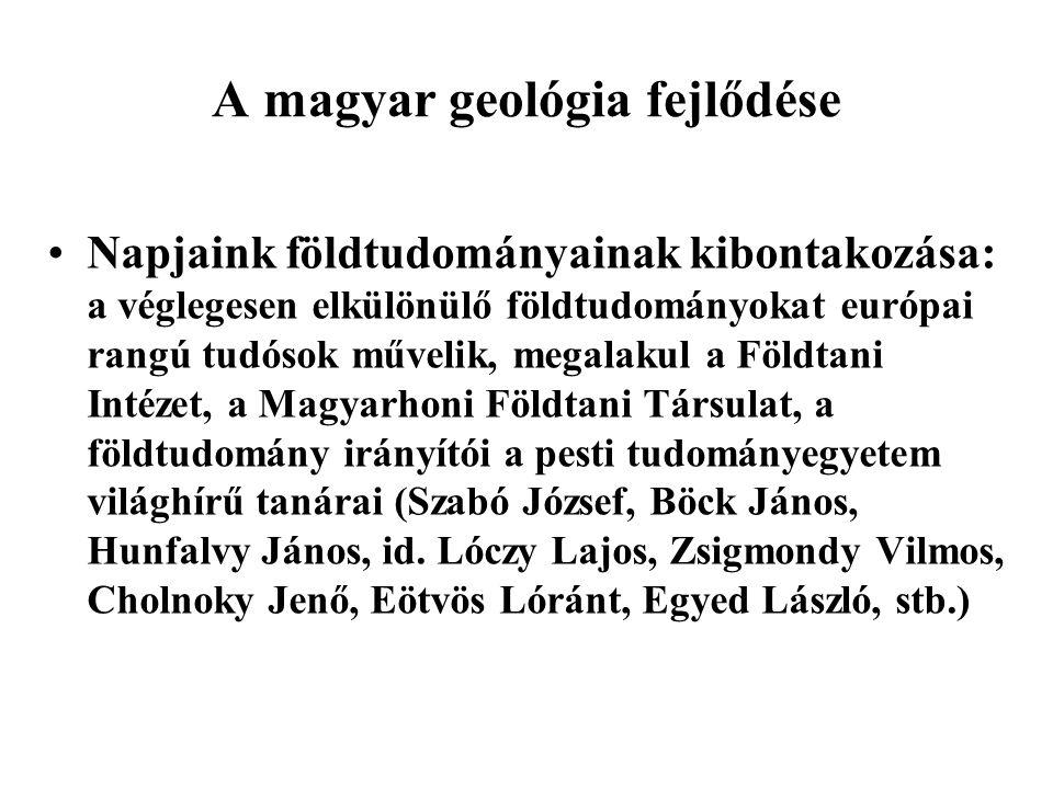 A magyar geológia fejlődése