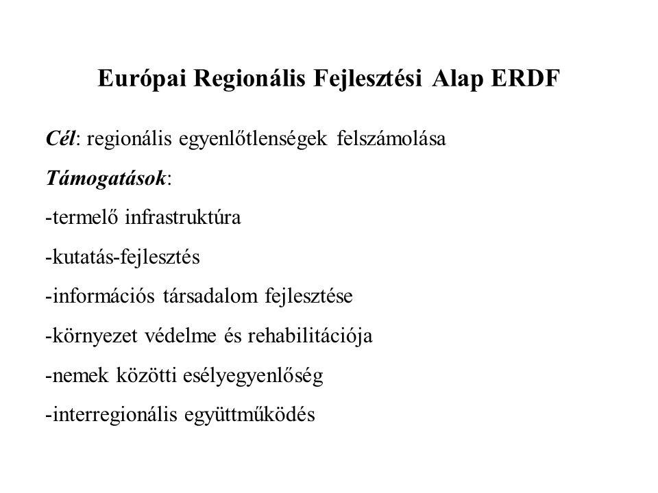 Európai Regionális Fejlesztési Alap ERDF