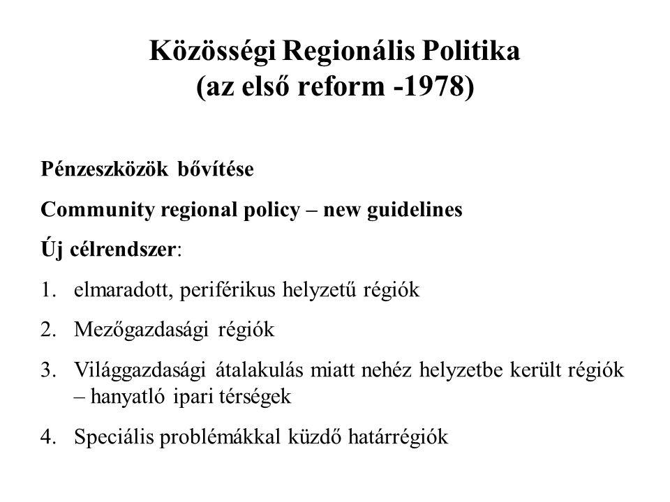 Közösségi Regionális Politika (az első reform -1978)