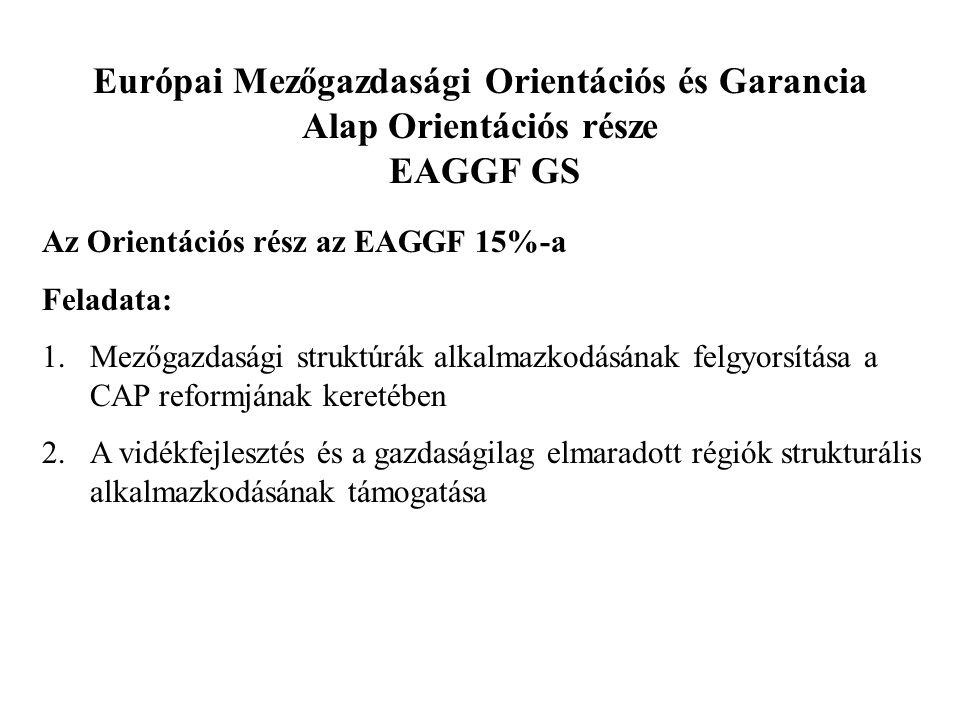 Európai Mezőgazdasági Orientációs és Garancia Alap Orientációs része EAGGF GS