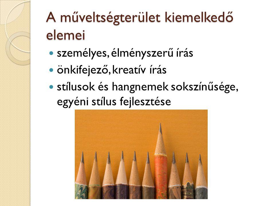 A műveltségterület kiemelkedő elemei