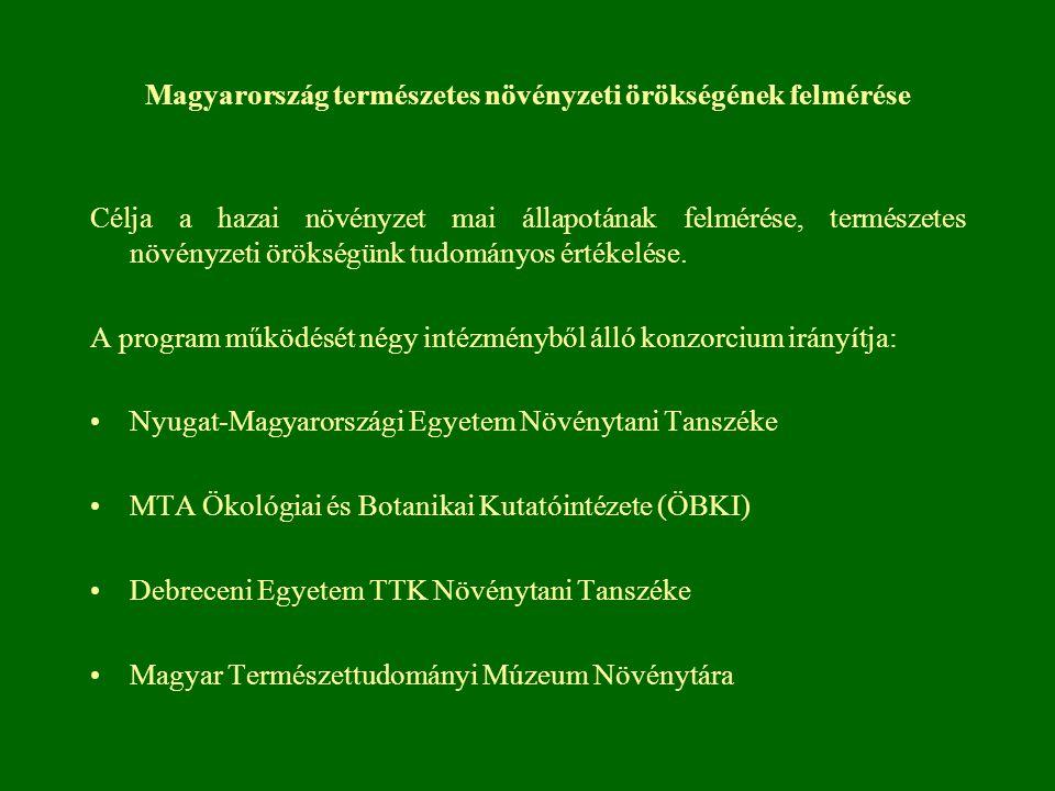 Magyarország természetes növényzeti örökségének felmérése