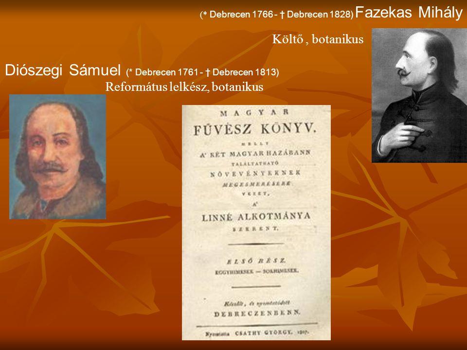 Diószegi Sámuel (* Debrecen 1761 - † Debrecen 1813)