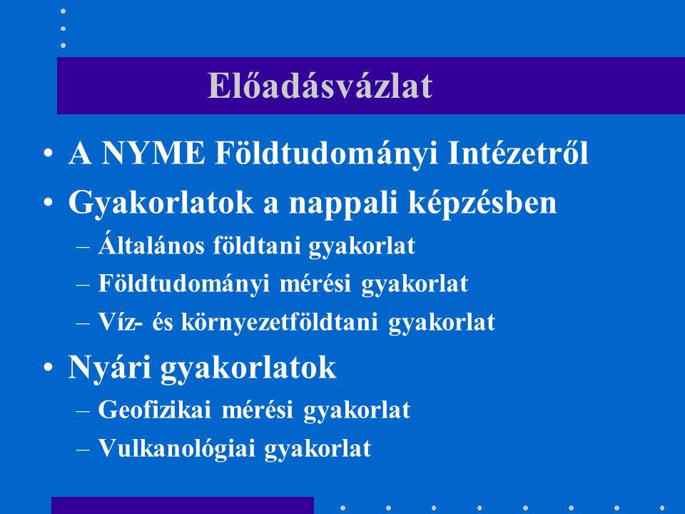 Előadásvázlat A NYME Földtudományi Intézetről