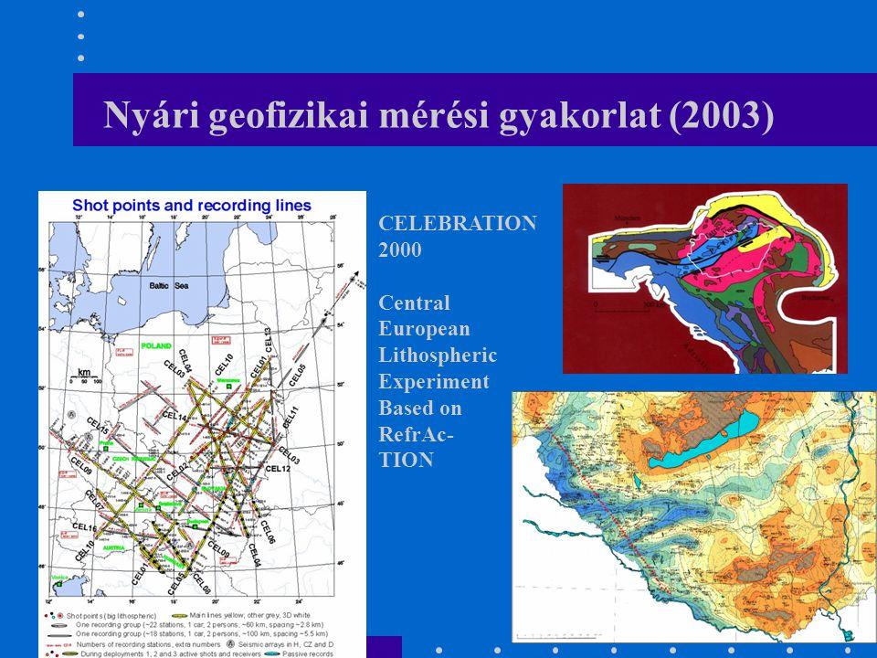 Nyári geofizikai mérési gyakorlat (2003)