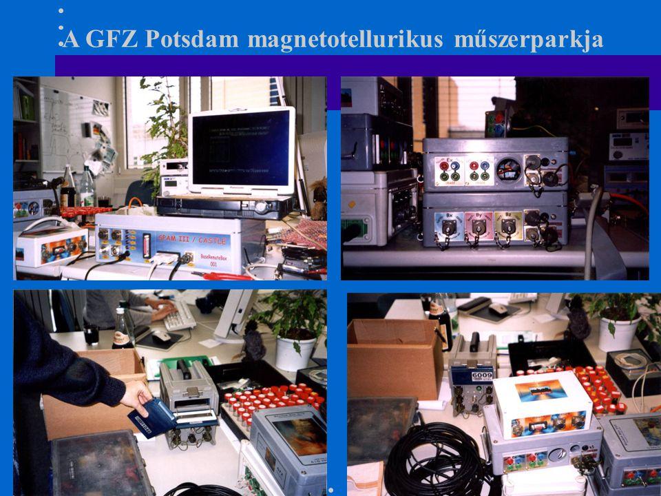 A GFZ Potsdam magnetotellurikus műszerparkja