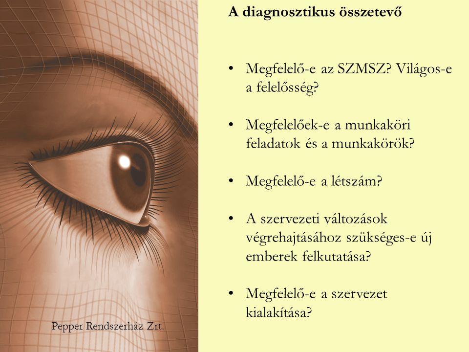 A diagnosztikus összetevő