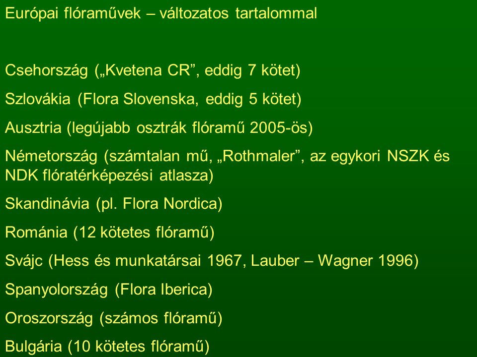 Európai flóraművek – változatos tartalommal