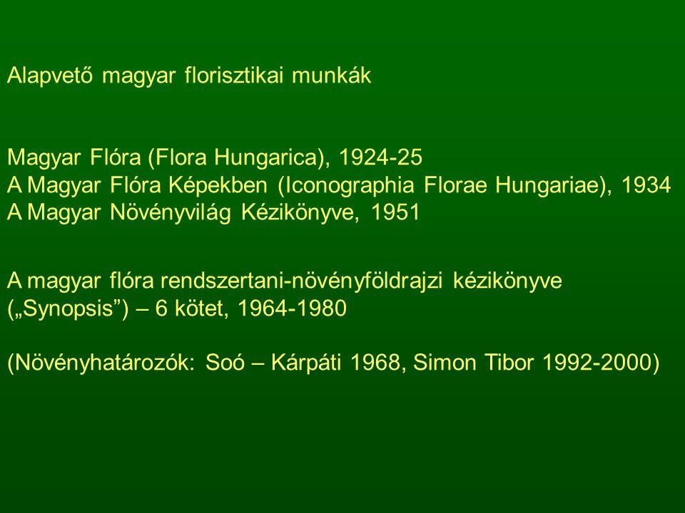 Alapvető magyar florisztikai munkák